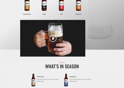 Brouwerij Landing Page