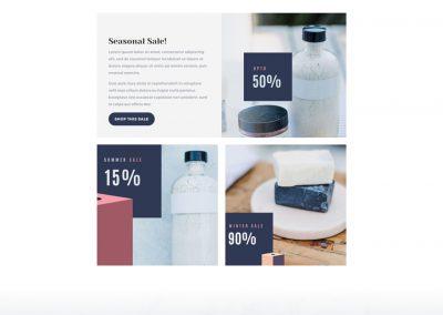 Cosmetica Shop Sales Page