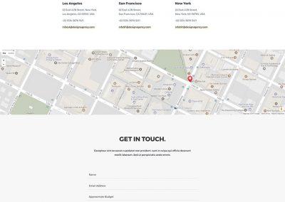 Design Studio Contact Page