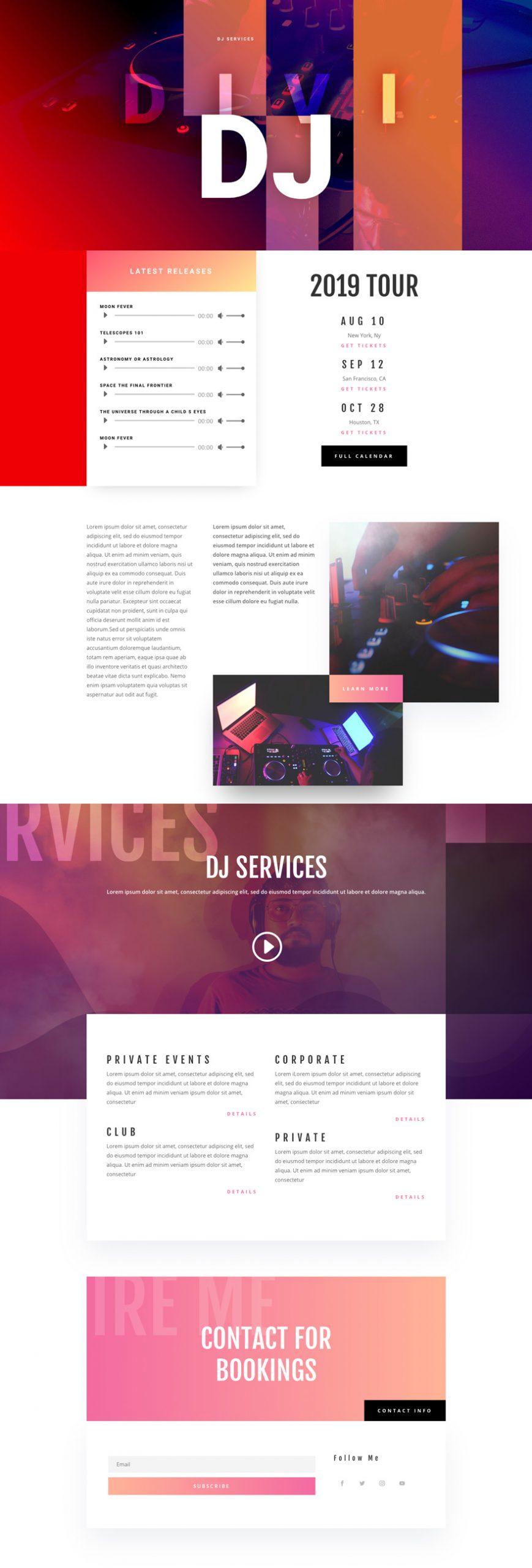 DJ Home Page