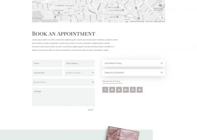 Make-up Contact Page