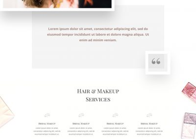 Make-up Landing Page