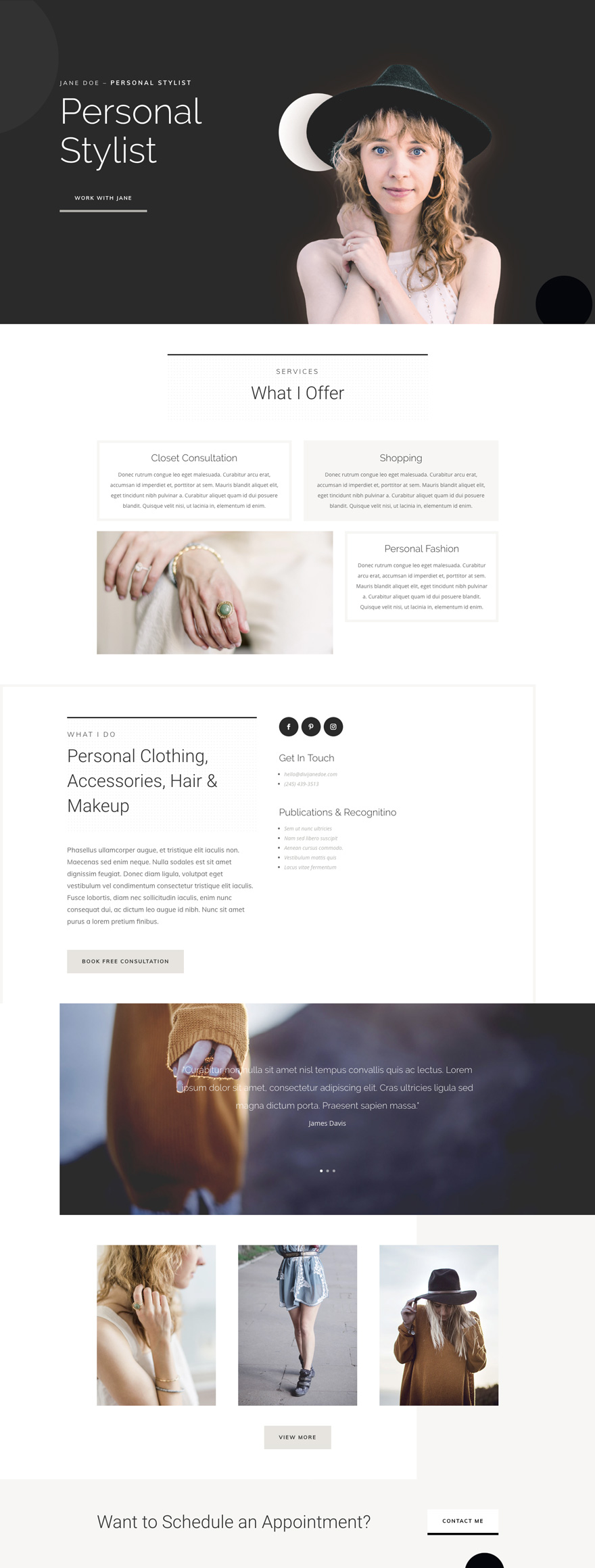 Personal stylist Home Page