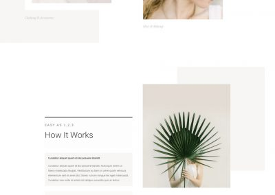 Personal stylist Landing Page