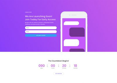 Software Coming Soon Page