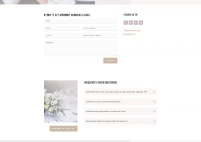 Weddingplanner Contact Page