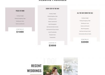 Weddingplanner Landing Page